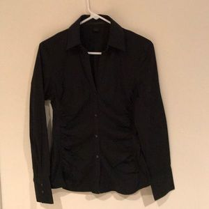 Express Black button down